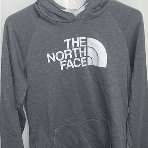 women's medium grey north face hoodie